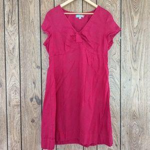Boden Cap Sleeve Linen Dress